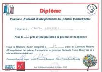 Országos francia nyelvű versmondó verseny
